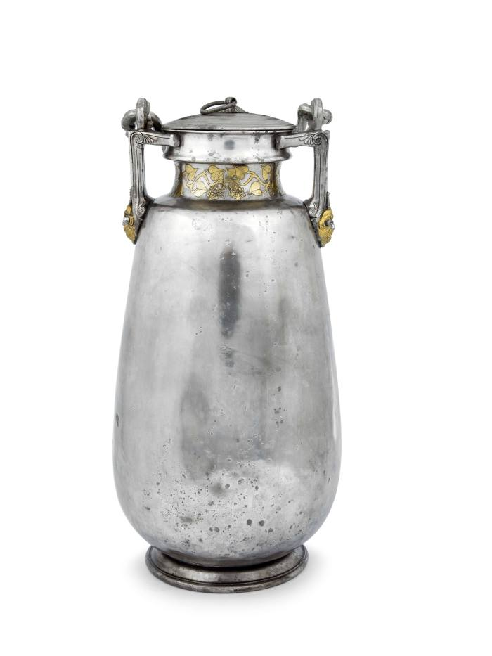 Vassil Bojkov Collection: Spectacular silver amphora with Pan heads under the handle attachments from 460-440 BC