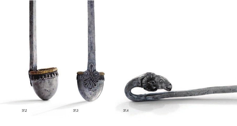 Ladle with ram head fina details