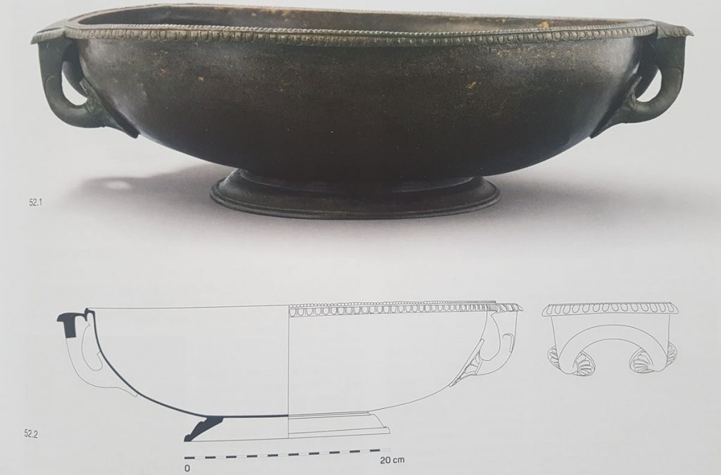 Bronze Lekane details