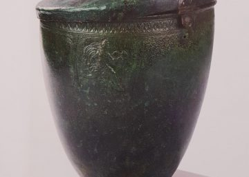 situla with relief figures